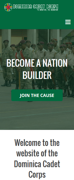 Donation has never been this easy and this secure! So don't hesitate and generously donate to the Dominica Cadet Corps in order to further their mission of rebuilding Dominica