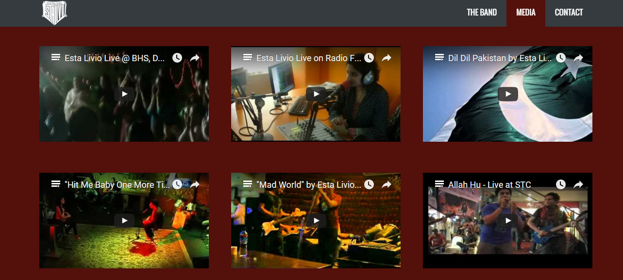 """Check out Esta Livio's live interviews and music videos at the """"Video"""" section of their portfolio!"""